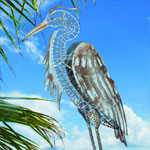 Rustic-Heron Bird Decor