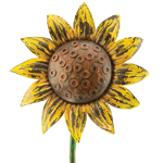 Rustic Sunflower Spinner Stake