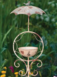 Rustic Umbrella Bird Feeder Stake