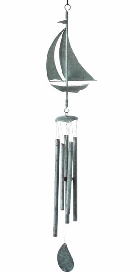 Sailboat Wind Chime- Blue Verde - Click to enlarge