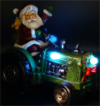 Santa on Tractor w/Color Changing LEDs