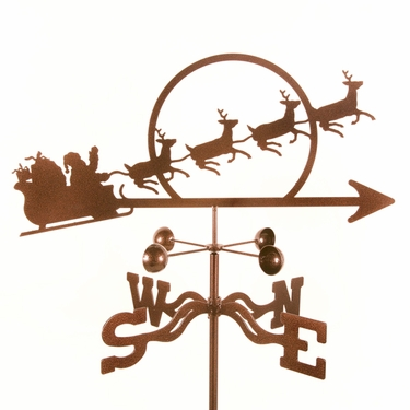 Santa with Sleigh Weathervane - Click to enlarge