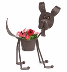 Scout the Metal Dog Planter