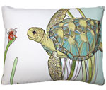 Sea Turtle Outdoor Pillow