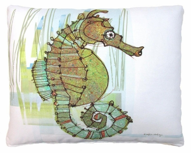 Seahorse in Marsh Outdoor Pillow - Click to enlarge