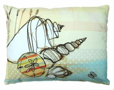 Seashells Outdoor Pillow - Click to enlarge