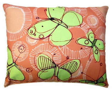 Sepia Butterflies Outdoor Pillow - Click to enlarge