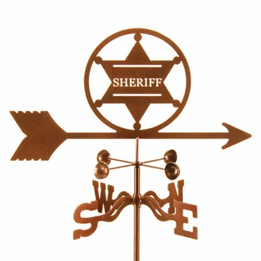 Sheriff Badge Weathervane - Click to enlarge