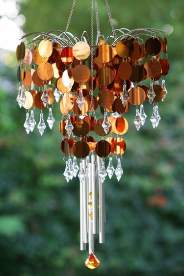 Shimmer Chandelier Wind Chime - Bronze - Click to enlarge