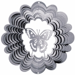 Silver Butterfly Wind Spinner
