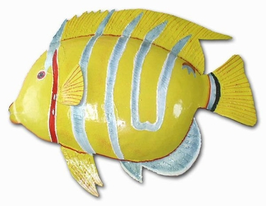 Silver Stripe Yellow Fish Decor - Click to enlarge