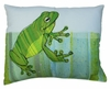 Sitting Frog Outdoor Pillow