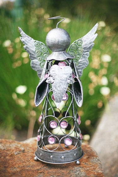 Small Filigree Angel Statue - Pewter - Click to enlarge