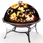 Small Fire Pit w/ Starry Night FireDome