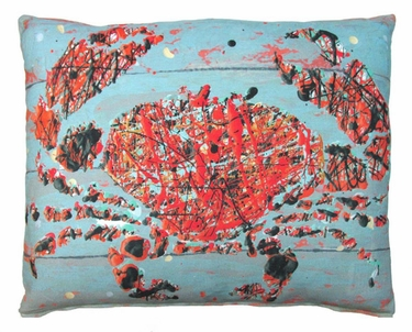 Snappy Crab Outdoor Pillow - Click to enlarge
