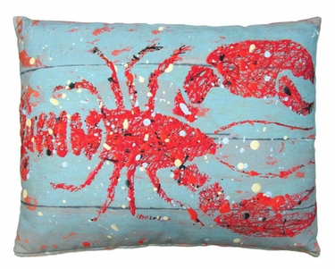 Snappy Lobster Outdoor Pillow - Click to enlarge
