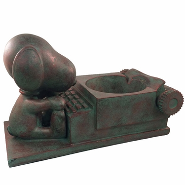 Snoopy Novelist Planter - Bronze Patina - Click to enlarge