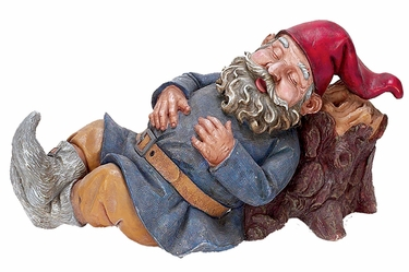 Snoring Merlin Gnome - Click to enlarge