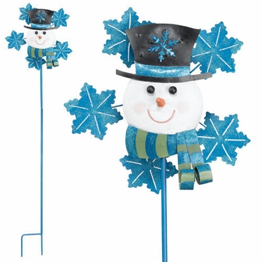 Snowman Garden Spinner - Click to enlarge
