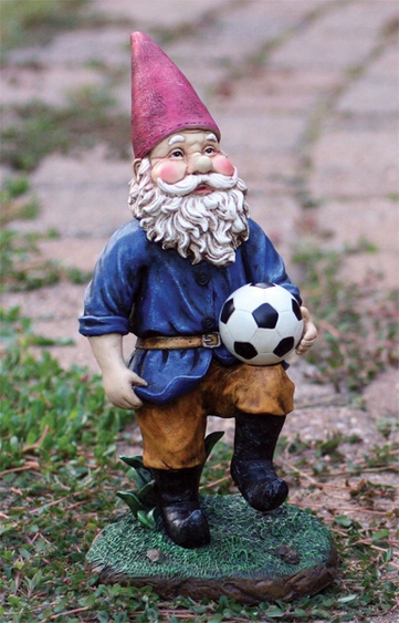 Soccer Gnome Figurine - Click to enlarge