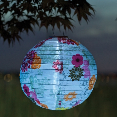 Soji Solar Lantern - Floral Bloom - Click to enlarge