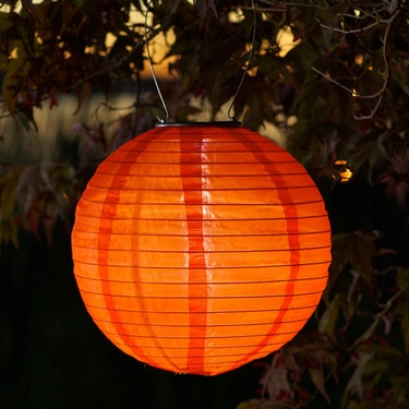 Soji Solar Lantern - Orange - Click to enlarge