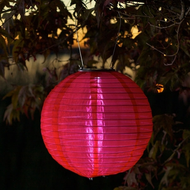 Soji Solar Lantern - Red - Click to enlarge
