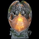 Solar Angel Statue w/Glass Ball