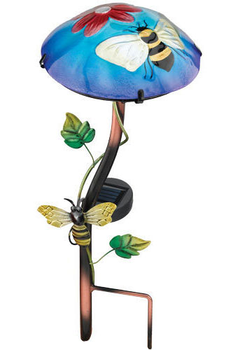 Solar Bee Mushroom Stake - Click to enlarge