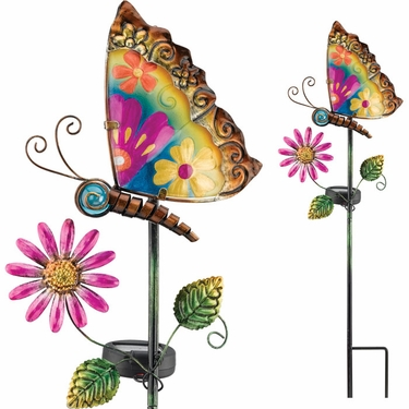 Solar Butterfly Garden Stake - Click to enlarge