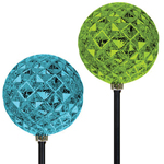 Solar Diamond Orb Garden Stakes (Set of 3)