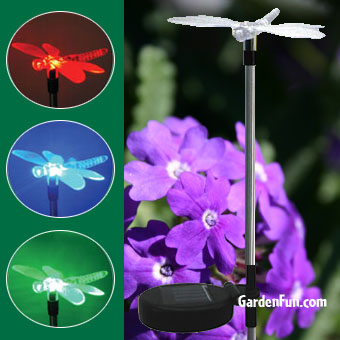 Solar Dragonfly Light Garden Stake - Click to enlarge