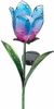 Solar Glass Flower - Blue Tulip