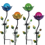 Solar Flower Bud Garden Stakes (Set of 4)