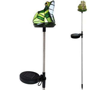 Solar Frog Light Garden Stake - Click to enlarge