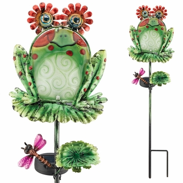 Solar Frog Garden Stake - Click to enlarge