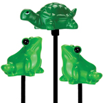 Solar Frogs & Turtle Garden Stakes (Set of 3)