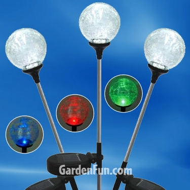 Solar Garden Globes - Multi-Color (Set of 3) - Click to enlarge