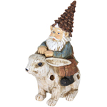 Solar Gnome Riding Rabbit