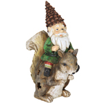 Solar Gnome Riding Squirrel