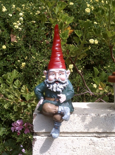 Solar Gnome Sitter - Merlin - Click to enlarge