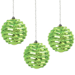 Solar Hanging Green Orbs (Set of 3)