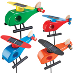Solar Helicopter Garden Stakes (Set of 4)