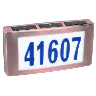 Solar House Numbers - Copper Finish - Click to enlarge