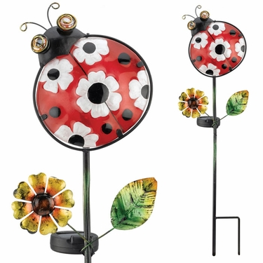 Solar Ladybug Garden Stake - Click to enlarge