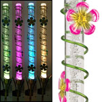 Solar LED Bubble Stake - Pink Flowers