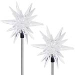 Solar LED Star Garden Stakes (Set of 2)