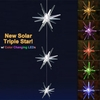 Solar Star Triple Lights w/Color Changing LEDs