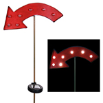 Solar Marquee Red Arrow Garden Stake