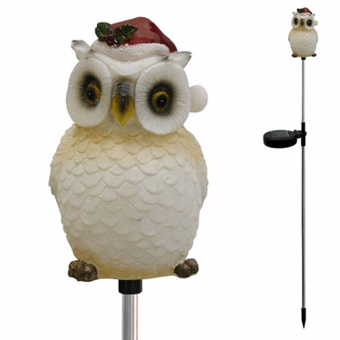 Solar Owl Holiday Stake - Click to enlarge